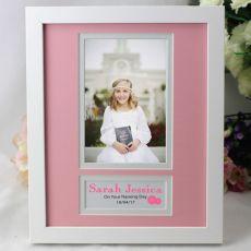 Baby Girl Naming Day Photo Frame 4x6 White Wood