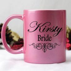 Bride Pink Personalised Coffee Mug