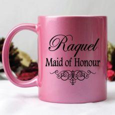 Maid of Honour Pink Personalised Coffee Mug