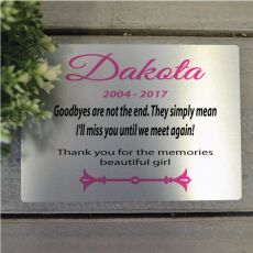 Personalised Pet Memorial Plaque