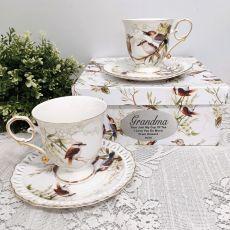 Cup & Saucer Set in Grandma Box - Kookaburra