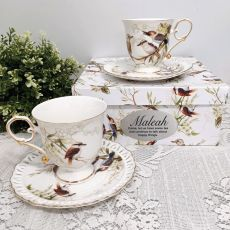 Cup & Saucer Set in Personalised Box - Kookaburra