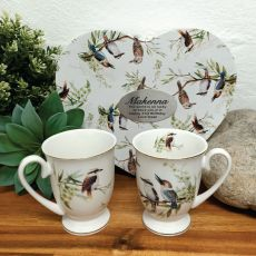 2pcs Kookaburra Mug Set in 21st Heart Box