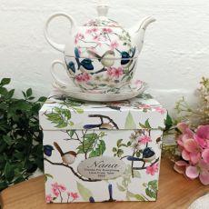 Tea For One In Blue Wren Nana Gift Bx