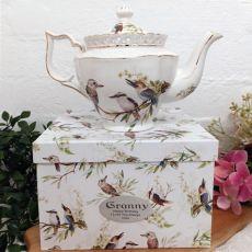 Teapot in Personalised Grandma Gift Box - Kookaburra