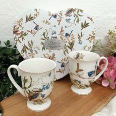 2pcs Aussie Birds Mug Set in Aunty Heart Box