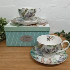 Aussie Animals Cup & Saucer Set in Personalised Box