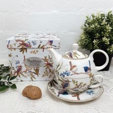 Australian Birds Tea for one in Personalised 50th Gift Box