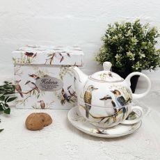 Kookaburra Tea for one in Personalised 100th Gift Box