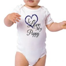 Personalised I Love My Poppy Bodysuit