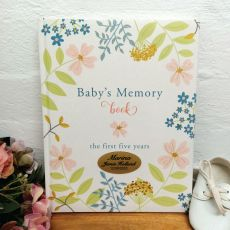 Personalised Classic Baby Record Book First 5 Years
