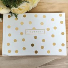 Guest Book with Gold Foil Spots