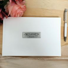 Personalised Birthday Leather Guest Book & Pen