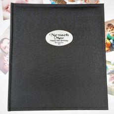 Personalised 30th Birthday Photo Album Black 500 Photo
