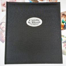 Personalised Engagement Photo Album Black 500 Photo