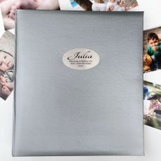 100th Birthday Personalised Photo Album 500 Silver