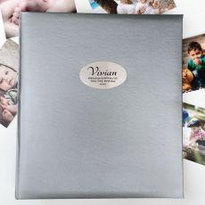80th Birthday Personalised Photo Album 500 Silver