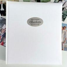 21st Birthday Personalised Photo Album 500 White