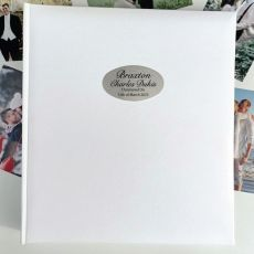 Christening Personalised Photo Album 500 White