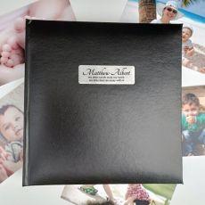 Personalised Baby Photo Album -Black 200