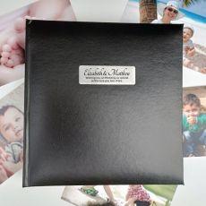 Personalised Wedding  Photo Album -Black 200