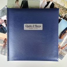 Personalised Engagement Blue Photo Album - 200