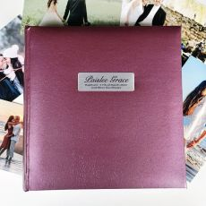 Personalised Baptism Photo Album Rose 200