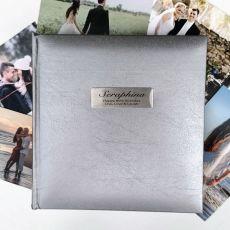 Personalised 80th Birthday Photo Album Silver 200