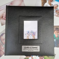 Personalised 1st Birthday Photo Album 200 Black