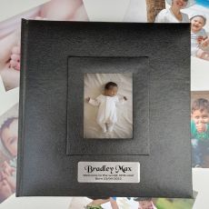 Personalised Baby Photo Album 200 Black