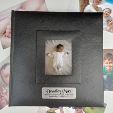 Personalised Baptised Photo Album 200 Black