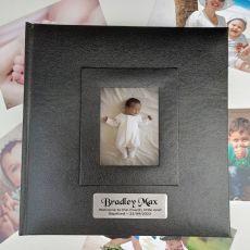 Personalised Baptised Photo Album 200 Black