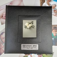 Personalised Memorial Photo Album 200 Black