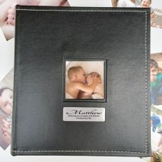 Christening Personalised Album Black  5x7 Photo