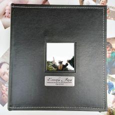 Graduation Personalised Black Album 5x7 Photo