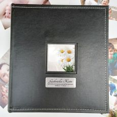 Memorial Personalised Black Album 5x7 Photo