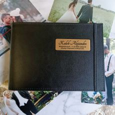 Personalised Baptism Brag Album - Black 5x7