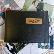 Personalised Wedding Brag Album - Black 5x7