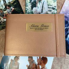 Personalised Baby Brag Album - Copper 4x6