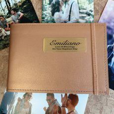 Personalised Baptism Brag Album - Copper 4x6