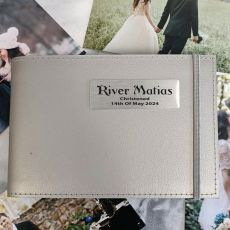 Personalised Christening Brag Album - Silver 5x7