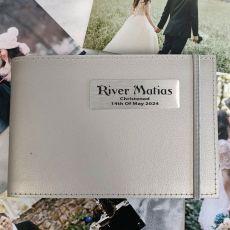 Personalised Christening Brag Album - Silver 5x7