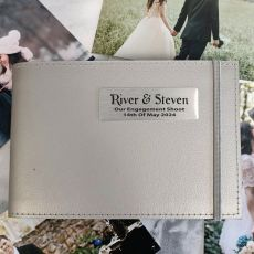 Personalised Engagement Brag Album - Silver 5x7