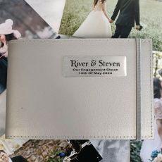 Personalised Engagement Brag Album - Silver 5x7