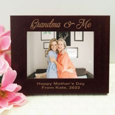 Grandma Engraved Wood Photo Frame- Mocha