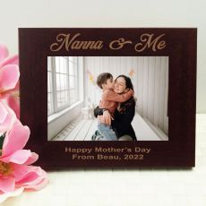 Nana Engraved Wood Photo Frame- Mocha