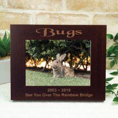 Pet Memorial Engraved Wood Photo Frame- Mocha