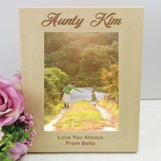 Aunty Engraved Wood Photo Frame