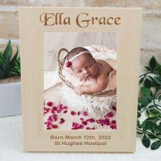 Baby Engraved Wood Photo Frame