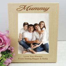 Mum Engraved Wood Photo Frame